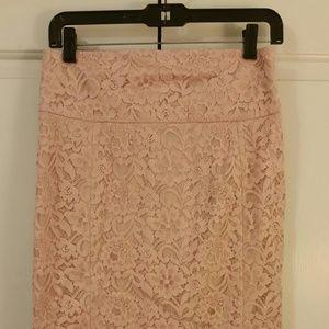Express pink pencil skirt